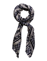 Day Deluxe Lines Scarf - EVENING BLUE