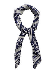 Day Deluxe Lines Scarf Mini - EVENING BLUE