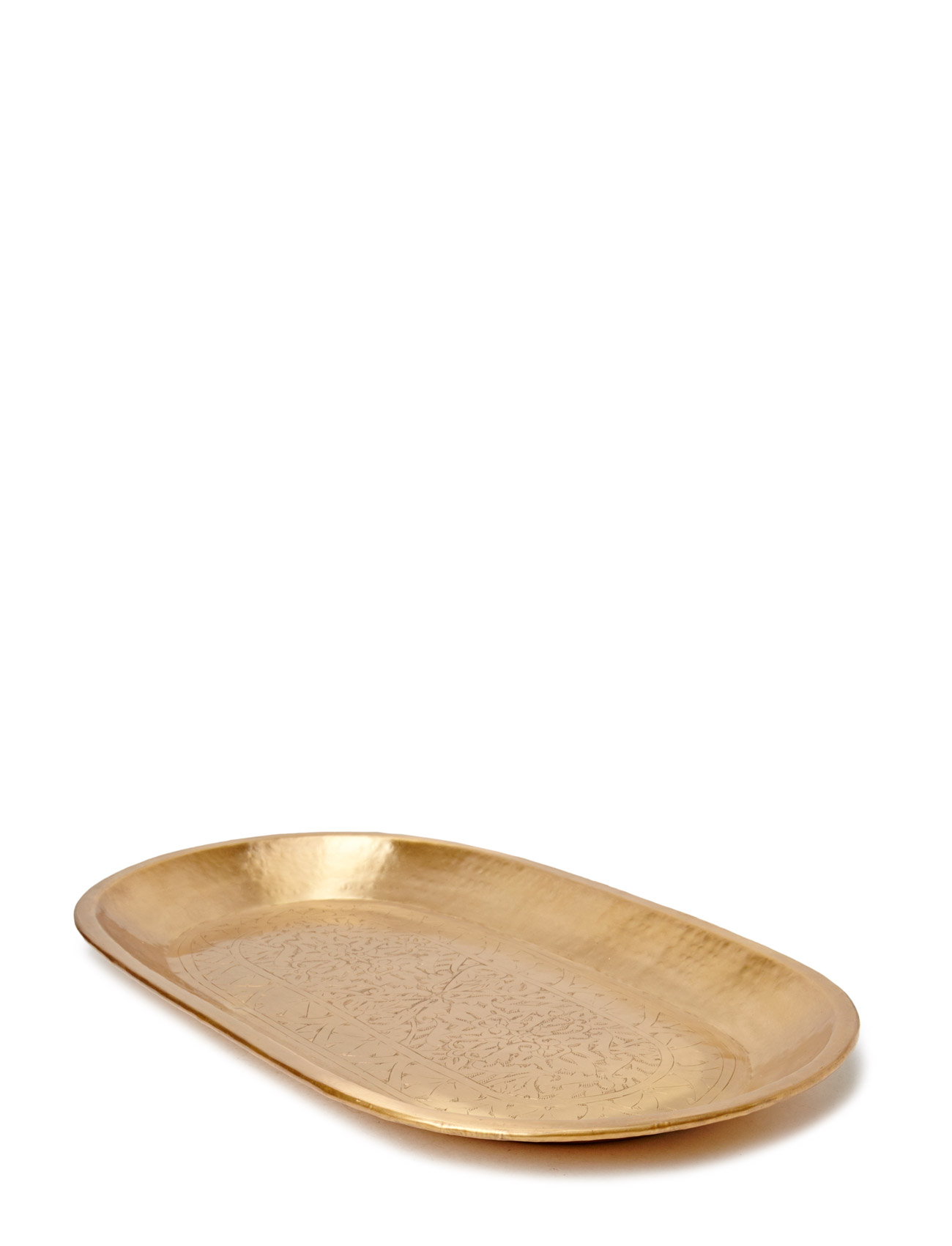 Carved Brass Deco Tray