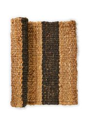 Rug Hemp Striped - Unblack