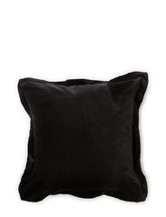 Velvet w/Fleng Cushion Cover - Black