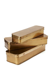 Brass boxes, set of 3 - Brass