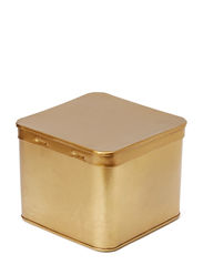 Brass box, square - Shiny Brass