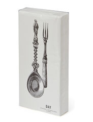 Buffet Napkin, Fork & Spoon - White/Grey