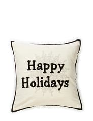 Happy Holidays Cushion Cover - Natural