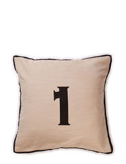 Numbers Cushions 1, Cushion Covers - natural