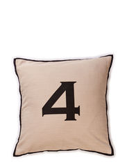 Numbers Cushions 4, Cushion Cover - natural