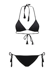 Day Wave Lowcut Bikini - BLACK