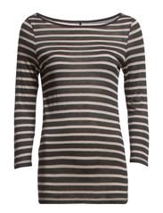 Day Striped Layering - Dark Grey Mel.
