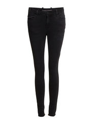 Day Racoon Zip Crop - Black Denim
