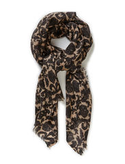 Night Lotus Scarf - Stucco