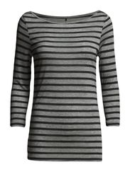Day Striped Layering - Lt. Grey Mel.