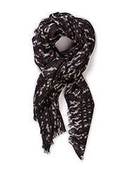 Day Check Scarf - Black