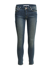 Day Lark Zip Crop - Indigo Stone Wash