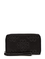 Day Flower Studs Wallet - BLACK