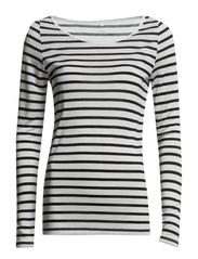 Day Striped Layering - White w. black stripes.