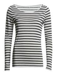 Day Striped Layering - White w. black stripes.