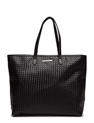 Day Braided Tote - BLACK