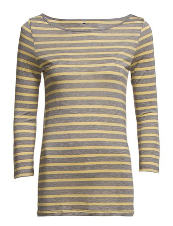 Day Striped Layering - Med Grey Mel.