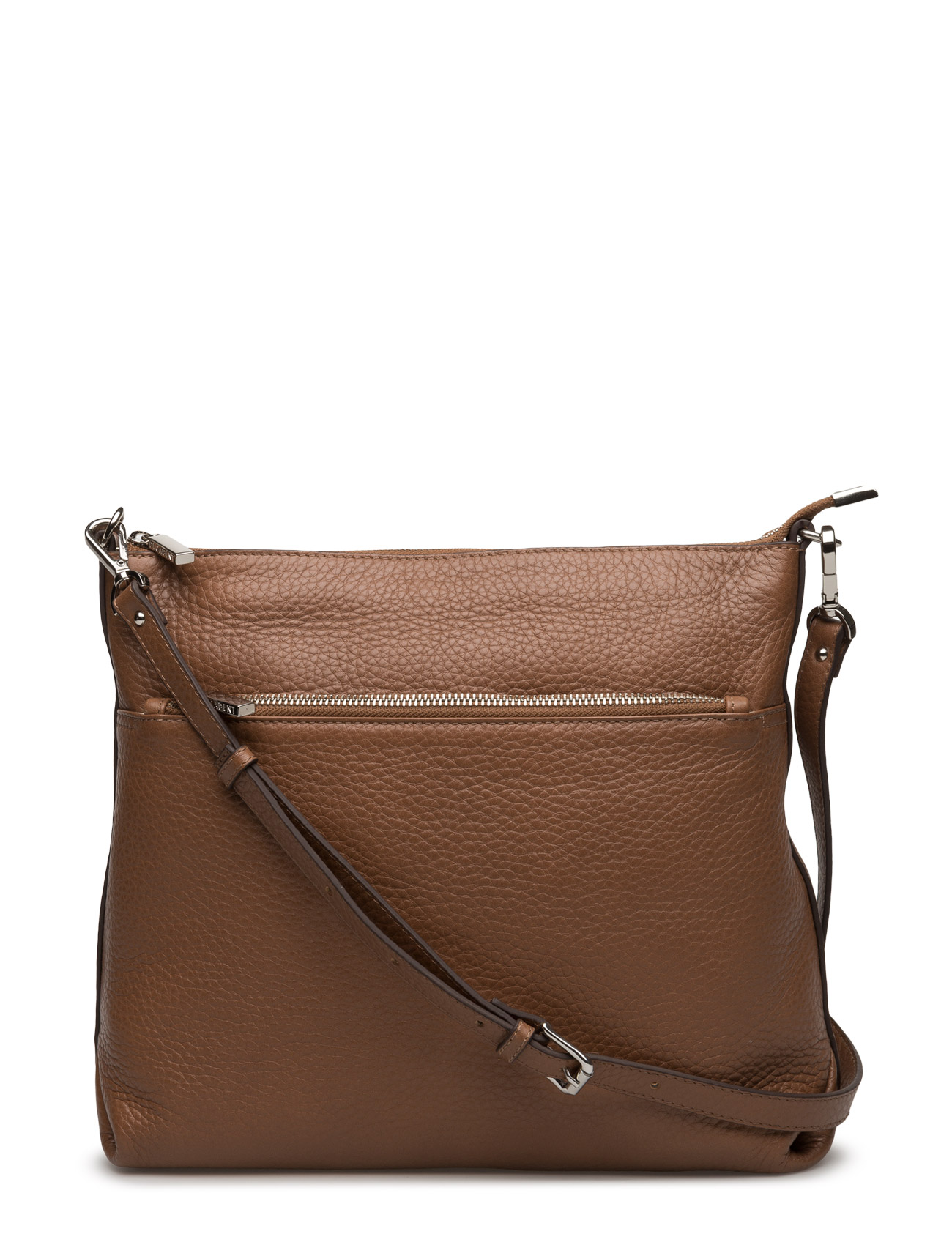 Cross Over Hold All With Zipper Pocket Decadent Skuldertasker til Damer i cognac