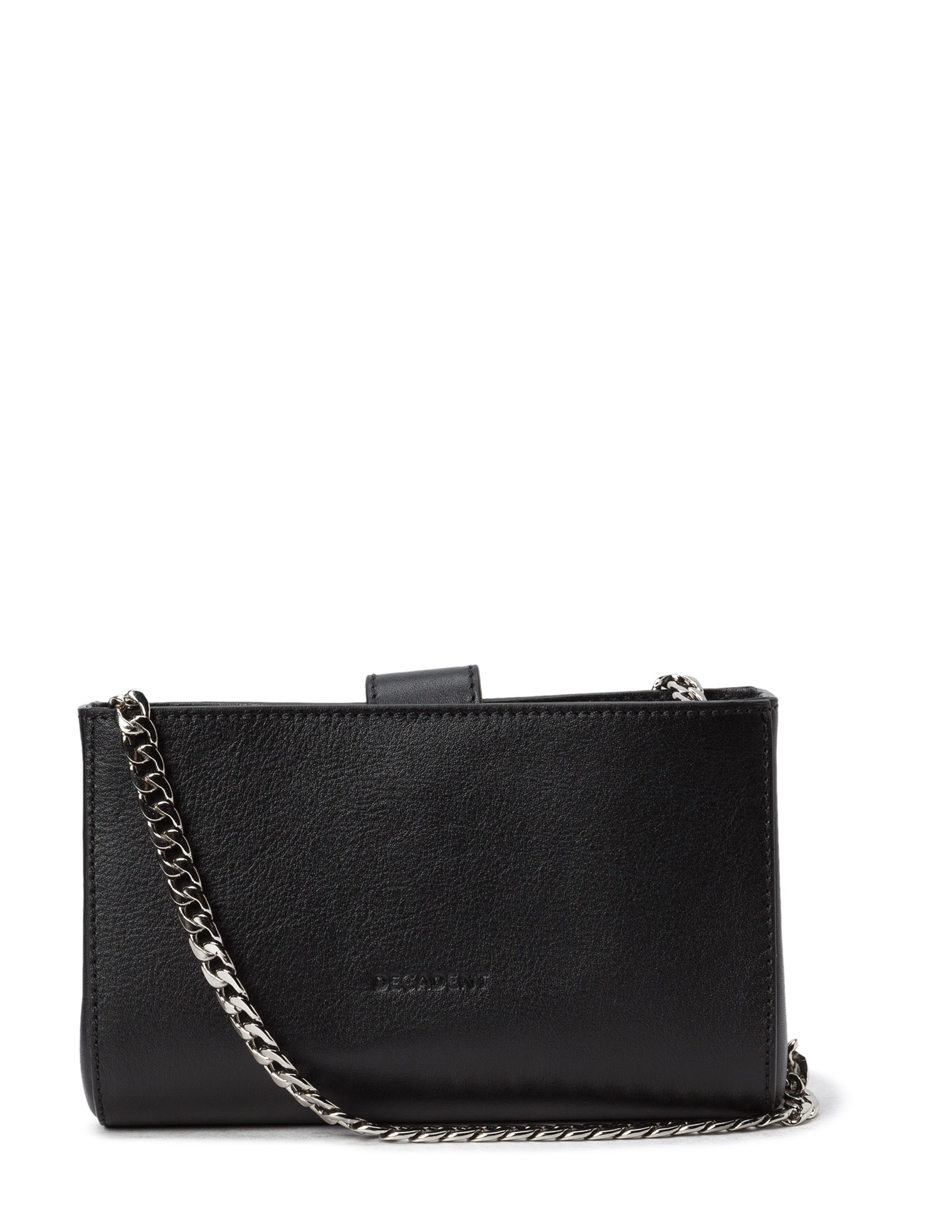 Tiny Open Cross Body With Chain Decadent Små tasker til Damer i Sort