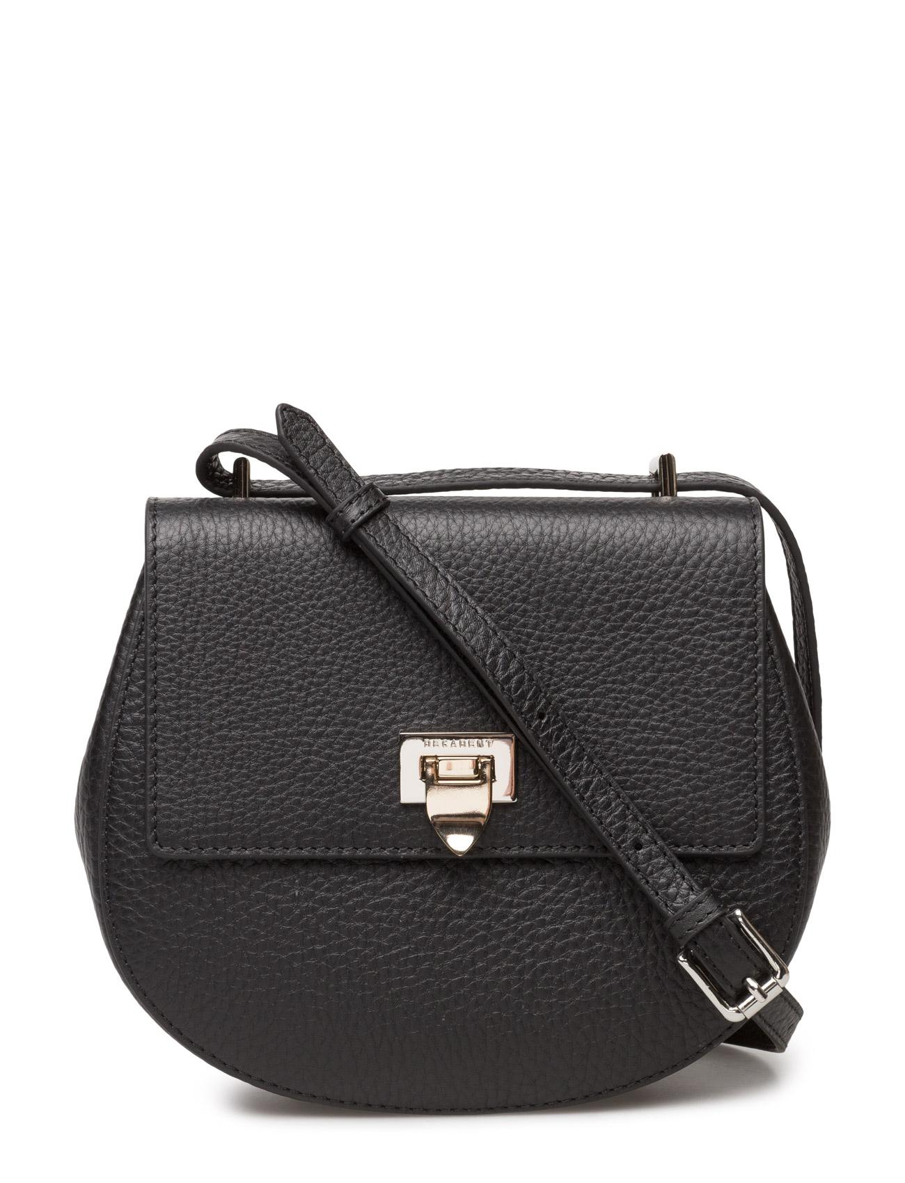 Tiny round satchel bag w/buckle fra decadent på boozt.com dk
