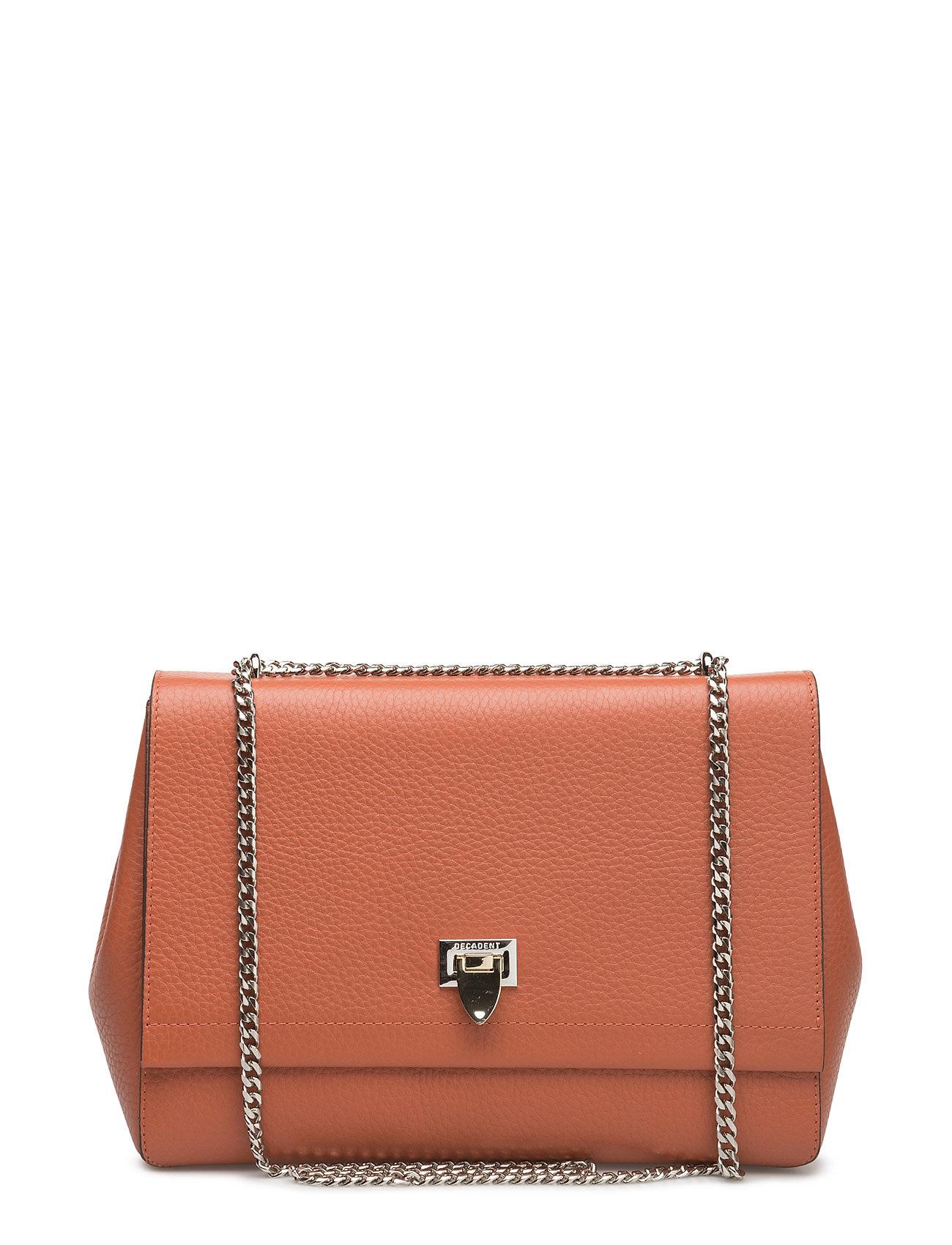 Big Bag With Buckle And Chain Decadent Skuldertasker til Damer i