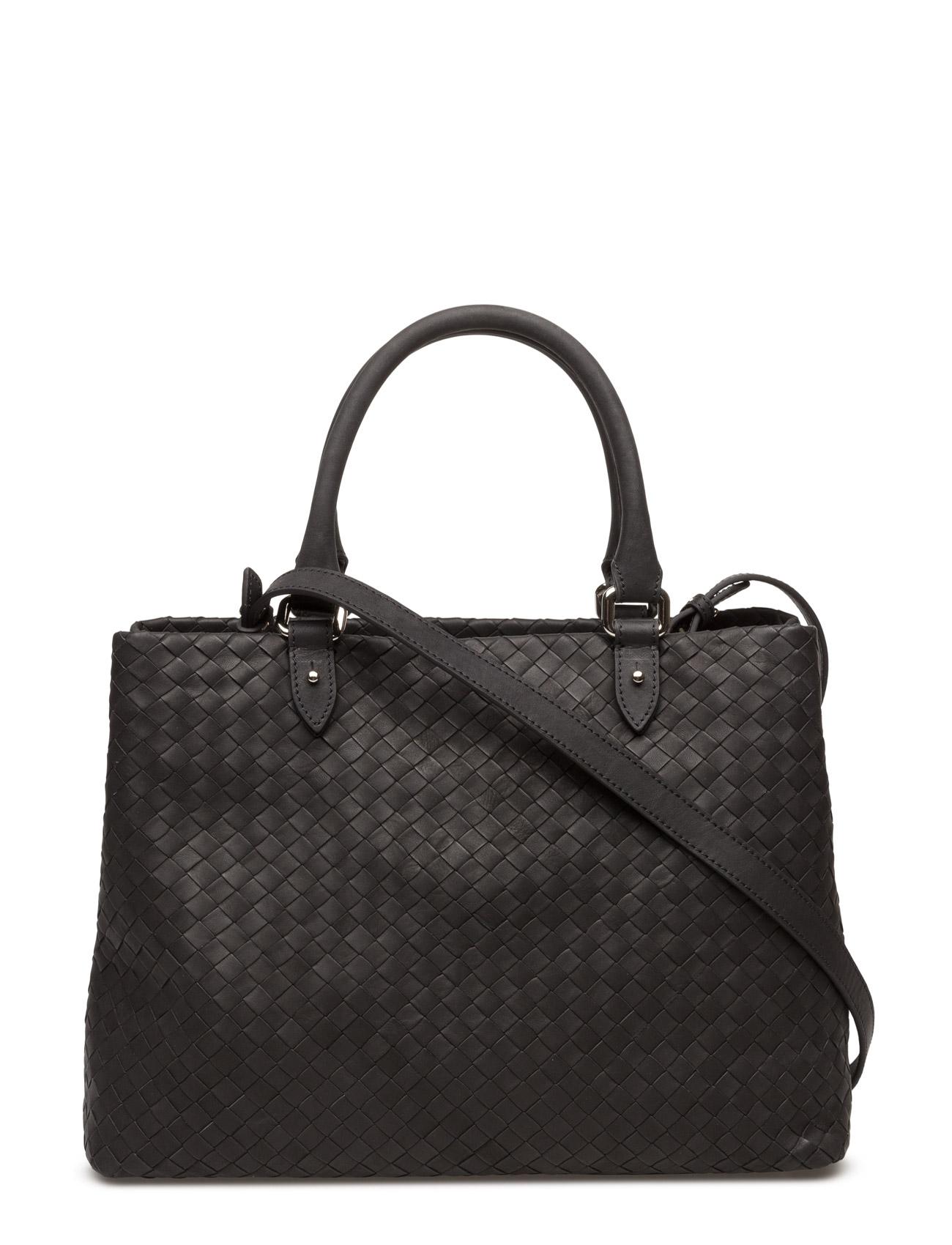 Woven Hand Bag With Strap Decadent Tasker til Kvinder i Sort