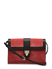 Estella clutch - SCARLET RED/BLOSSOM/BLACK
