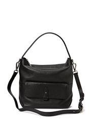 Small Shoulder Bag with pocket - Black