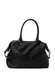 Woven small hold all - BLACK