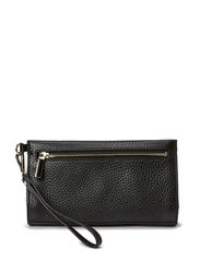 Small clutch with hand strap - Black