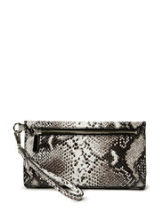 Small clutch with hand strap - Natural python