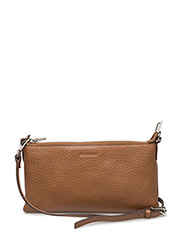 Mini flat cross body - COGNAC