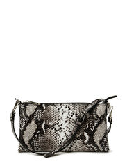Mini flat cross body - Natural python