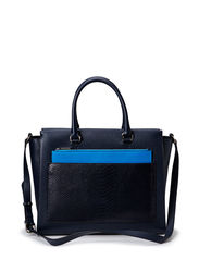 Working bag with clutch and strap - Navy