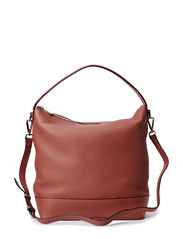 Big plain shoulder bag - Old rose