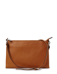 Small flat cross body - Cognac