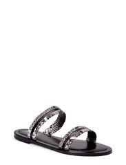 California sandal - Natural python/black