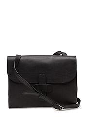 Twin side cross body bag - BLACK