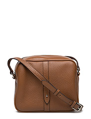 Round cross body w/stripe - Flotter - COGNAC