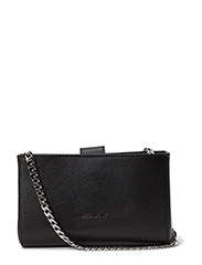 Tiny open cross body with chain - BLACK
