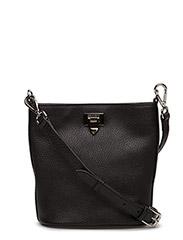 Small bucket bag w/buckle - BLACK