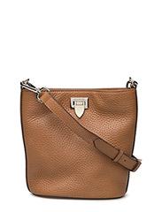 Small bucket bag w/buckle - COGNAC