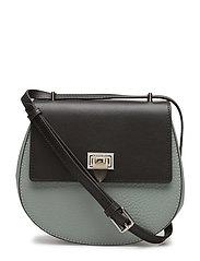 Tiny round satchel bag w/buckle - FROSTY GREEN/BLACK