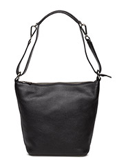Small shoulder bag with two way strap - BLACK