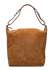 Nova big shoulder bag - SUEDE COGNAC