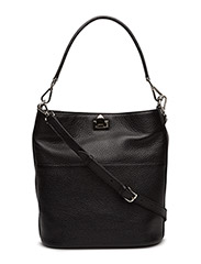 Big bucket bag w/buckle - BLACK