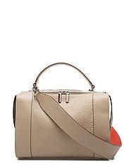 One handle handbag - BEIGE/RED