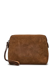 Make up Purse - SUEDE COGNAC